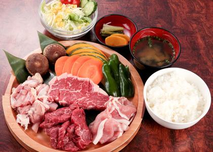 焼肉ランチ1,500円コース(税別)