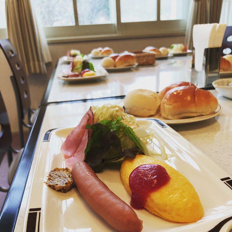 軽井沢のペンション朝食